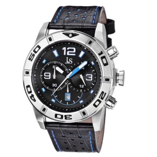 Joshua y para hombre Sons JS60BU pantalla japonés analógico de cuarzo reloj de Hombre de estilo