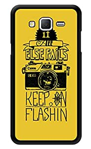 """Humor Gang Flashing Camera Quote Printed Designer Mobile Back Cover For """"Samsung Galaxy j2"""" (3D, Glossy, Premium Quality Snap On Case)"""