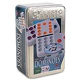 Domino Cardinal dobles de 12 puntos de colores, caja de colectores