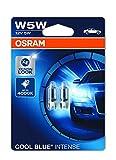 OSRAM COOL BLUE INTENSE W5W Halogen, Kennzeichen-Positionslicht, 2825HCBI-02B, 12V PKW, Doppelblister (2 Stück)