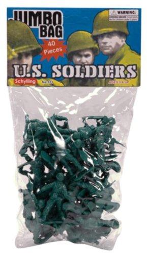 Schylling Green Army Men - 40 Piece Bag #GAM - 1