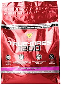 BSN TRUE-MASS 1200- Strawberry, 10.25 lb (15 Servings)
