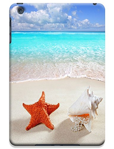 Fantastic Faye Cell Phone Cases For Ipad Mini No.16 The Fashion Design With Warm Sunshine Beach Blue Sky Clean Water Sea Star Beautiful Shell Slipper