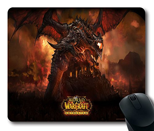 Custom-PC-game-Mouse-Pad-with-World-Of-Warcraft2-Non-Slip-Neoprene-Rubber-Standard-Size-9-Inch220mm-X-7-Inch180mm-X-183mm-Desktop-Mousepad-Laptop-Mousepads-Comfortable-Computer-Mouse-Mat
