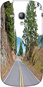 Snoogg Mountain Highway Designer Protective Back Case Coverfor Samsung Galaxy...