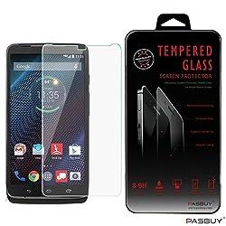 PASBUY XT1254 Premium Real Tempered Glass Screen Protector for Motorola Droid Turbo XT1254