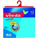 Vileda 110498 Viva Selection Ärmelbügelbrettbezug in blau - Schaumpolsterbezug für Ärmelbretter - dampfdurchlässig - 1cm x 52cm