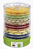 Concept Elettrodomestici SO1025 Essiccatore per Frutta, 12 Scomparti, 240 V, 245 W, 46 dB, Verde
