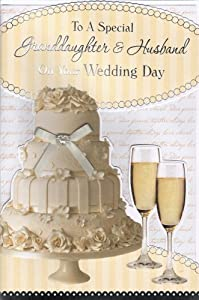 Granddaughter & Husband Wedding Day Card - 'To A Special ...