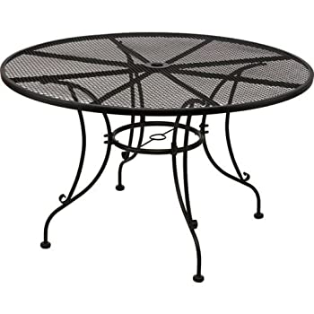 Mosaic Steel Mesh Round Dining Table