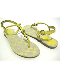 Birkenstock Yara Womens Antique Brown Leather Thongs 38 Eu