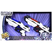 SPACE WARS SERIES: PLANET OF TOYS SPACE WEAPON SET 2 GUNS 28CMS COMBO (LED LIGHT AND SOUND)