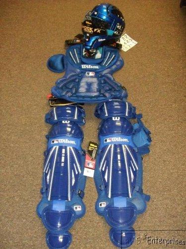 Wilson MLB Pro FX baseball catchers gear set NEW Blue E
