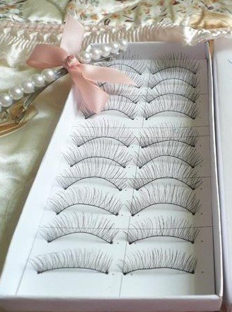 (Price for 5 Box) Long Black False Eyelashes Eye Lashes Makeup, Romantic Black