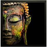PPD Exclusive Lord Buddha Vastu Framed Wall Art Paintings For Living Room And Bedroom. Frame Size (12 Inch X 12 Inch, (Wood, 30 Cm X 3 Cm X 30 Cm, Special Effect Textured)