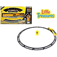 Locomotive Railroad Train With A Bed Delivering A Tractor And A Dump Truck Remote Controlled With Sound And Light