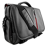 Snugg Crossbody Shoulder Messenger Laptop Bag, 15.6 Inch, Black