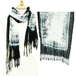 Tie Die Cloud Print Summer Scarf - Colors Available
