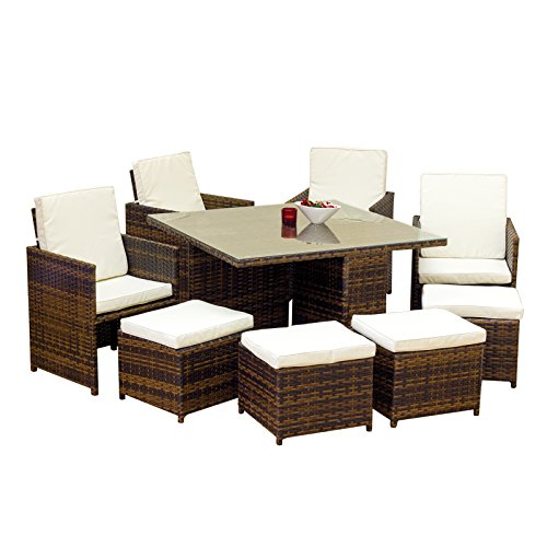 Oseasons 8 seater cube garden patio furniture set for Outdoor furniture amazon