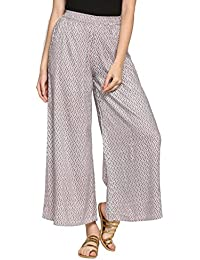 Abof Ethnic Grey & Red Printed Regular Fit Palazzo Pants