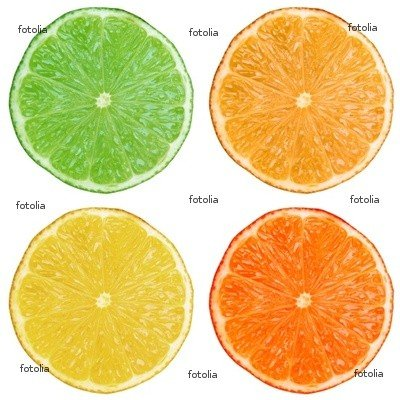 "Wallmonkeys Peel and Stick Wall Graphic - Lime Lemon Orange Citruses - 24""H x 24""W"