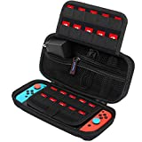 Carrying Case for Nintendo Switch, SPERVS Portable Carry Cases & Storage with 20 Game Cartridges Hard Shell Pouch for Nintendo Switch Console & Accessories , Switch Travel Case( Black) (Color: Black, Tamaño: 2.95 x 9.25 x 4.72)
