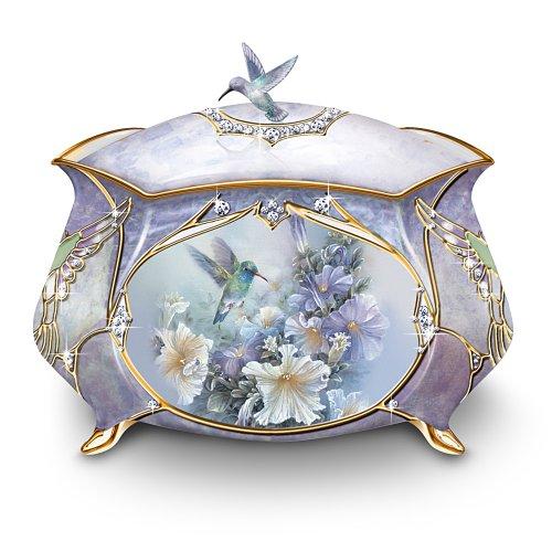 Lena Liu Precious Treasure Hummingbird Music Box by The Bradford Exchange