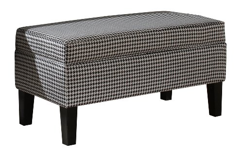 Skyline Furniture Modern Storage Bench in Berne Black at Sears.com