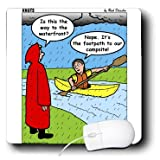 mp_8319_1 Rich Diesslin KNOTS Scout Cartoons - Knots Jubilee - Kayaking in the Rain to the Waterfront or Campsite - Mouse Pads