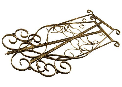 Brand New Free Standing Decorative Antique Bronze Iron Garment Coat Rack (Y009D) 2
