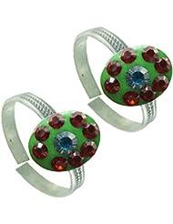 Designer Antique .925 Sterling Silver Toe Ring For Women - B01I1EVSWK