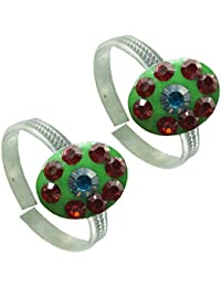 Designer Antique .925 Sterling Silver Toe Ring For Women