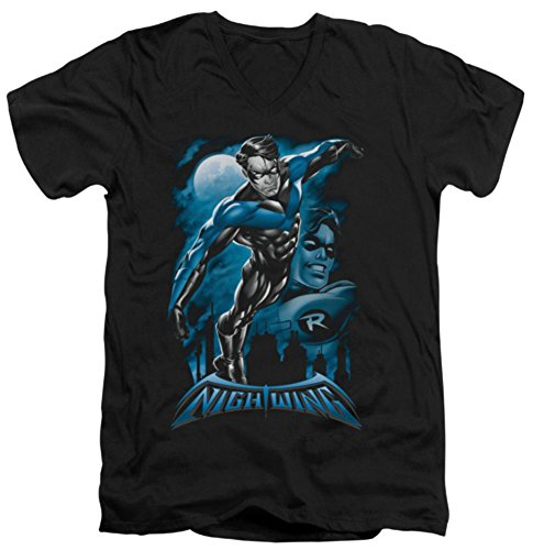 Batman Nightwing: All Grown Up Slim Fit V-Neck T-Shirt