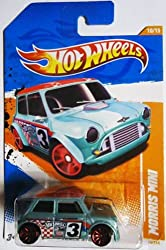 2011 Hot Wheels MORRIS MINI cooper TRACK STARS 10 of 15, #75   1:64 Scale Collectible Die Cast Car