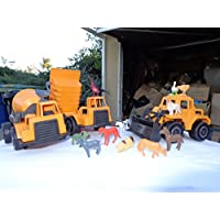 Farm Construction Set Of 3 Different Construction Vehicles With 12 Miniature Farm Animals