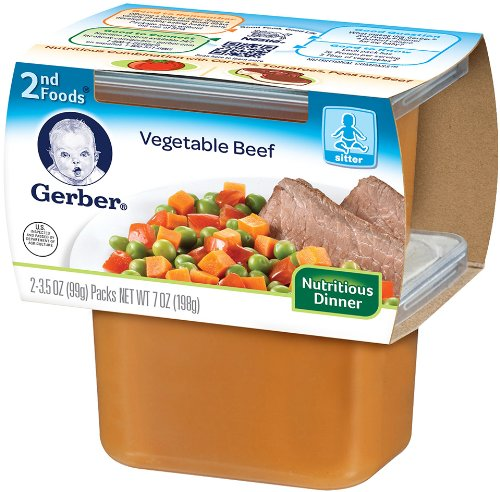 Gerber 2nd Foods, Vegetable and Beef, 7-Ounce (Pack of 8)