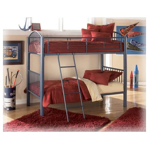 Amazon Quintessentials Metal Twin Twin Bunk Bed by