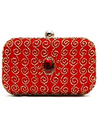 Bonito Ange Women's Clutch Red (BA_23) (Pack Of 2)