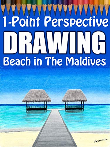 1-Point Perspective Drawing: Beach in The Maldives