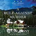 A Rule against Murder: A Three Pines Mystery Audiobook by Louise Penny Narrated by Ralph Cosham