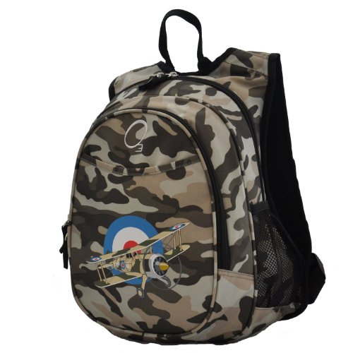 O3 Kids All-in-One Pre-School Backpack with Cooler, Camo Airplane
