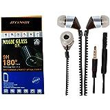JIYANSHI Combo Of Unbreakable Screen Guard & Earphone Black In Ear. Compatible For Huawei Honor Holly 2 Plus