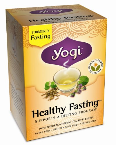 Yogi Healthy Fasting, Herbal Tea Supplement, 16-Count Tea Bags (Pack of 6)