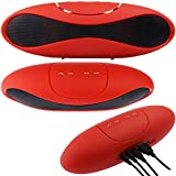 ESTAR Bluetooth Multimedia Speaker System With FM / Pen Drive / Micro-SD Card Slot COMPATIBLE With Philips S388 And All Other Smartphones (RED)