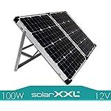 100W Watt Solarkoffer Monokristallin 12V NEUHEIT Solarmodul Solarpanel Solar - Mono - Camping - solarXXL