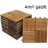 SAM® 4 m² Holzfliese 02 Balkon Terrasse Holz Fliese Akazie geölt 30 x 30 cm