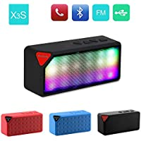 Byond B66 Compatible and Certified Colourful Big-X3 Speakers with Bluetooth, FM, Calling, USB, Memory Card, AUX In, Card Reader Function ( Get Mobile Charging Cable worth Rs 239 FREE & 180 days Replacement Warranty )