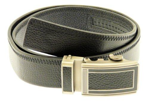 Mens Genuine Black Leather Belt In Gift Box (N27)