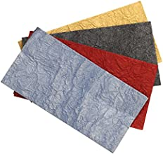 Christmas Gifts Wraps Pouches - Set of 4 Open Flapless Gift Pouches - 76quot in Different Colors - H