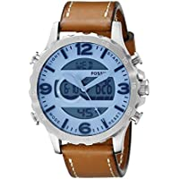 Fossil Men's JR1492 Brown Leather Quartz Fashion Watch